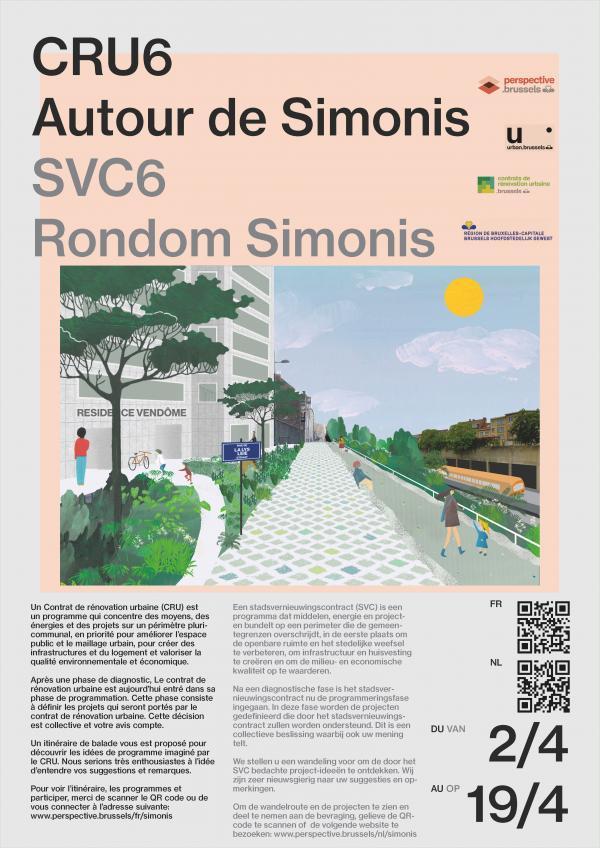 """Affiche van de participatiewandeling """"Tour de Simonis"""""""