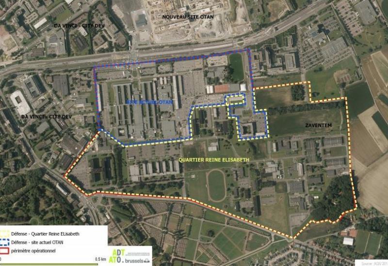 Defensie-site (90 ha) : Noord: ex-NAVO en Zuid: huidig Hoofdkwartier Defensie.